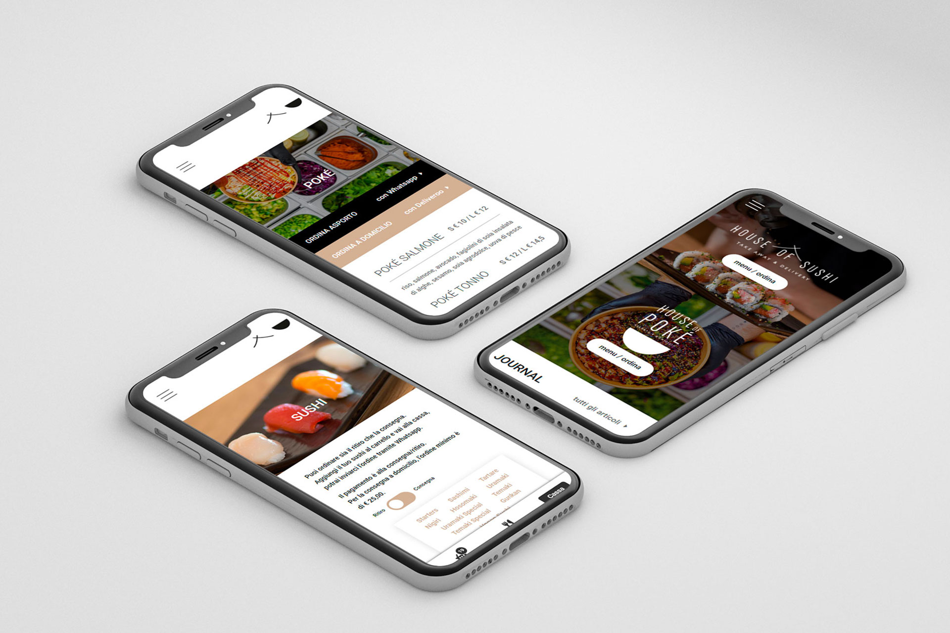 Online il nuovo sito di house of sushi / house of poké